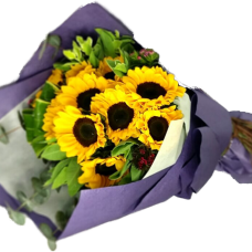 Sunshine Day  10pcs Sun Flowers Bouquet